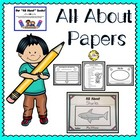 """All About"" Book Papers & Helpers"