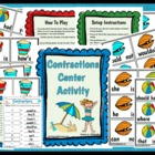 All About Contractions Reading Center Station Activity Game