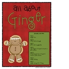 All About Ginger (Gingerbread Information &amp; Activities)
