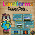 All About LANDFORMS PowerPoint, Real pictures, Quiz, Interactive