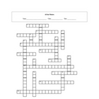 All About Matter Crossword Puzzle with key