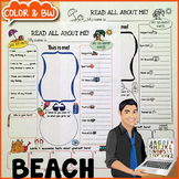 Beach All About Me Printable