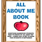 All About Me Book - Great For Back to School!