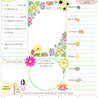 Flowers All About Me Printable