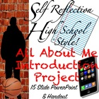 All About Me Introduction Booklet: High School Style