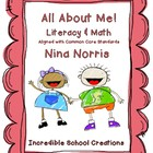 All About Me Literacy and Math - aligned with Common Core