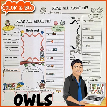 Owl All About Me Printable