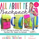 All About Me Paper &quot;Bagpack!&quot; {A Back to School Craftivity}