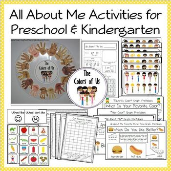 """All About Me"" Printables, Activities and Ideas for Presch"