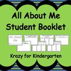 All About Me Student Booklet