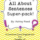 All About Sentences Superpack! A Common Core Aligned  Unit