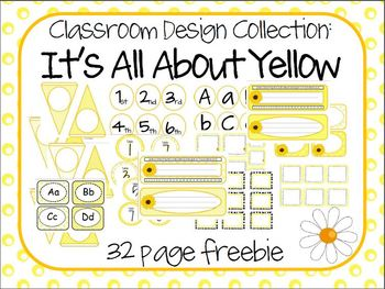 All About Yellow - Classroom Labels & Design Pack