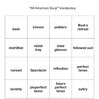 All American Slurp Vocabulary Flash Cards Holt Intro cours