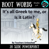 All Greek to Me, or is it Latin- Root Words + Test Prep Po
