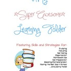 All-Inclusive Learning Skills and Strategies Folder - Blue &amp; Pink