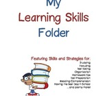 All-Inclusive Learning Skills and Strategies Folder - Blue &amp; Red