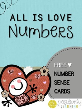 All Is Love Number Cards for Activities