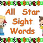 All Star Sight Words- Kindergarten- Dolch Pre-Primer March