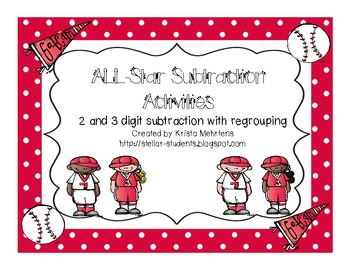 All Star Subtraction Activities and Stations