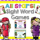 All Stars! Sight Word Games {Dolch Words Pre Primer-2nd Grade}