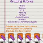 All Subject Interactive Notebook Grading Rubrics