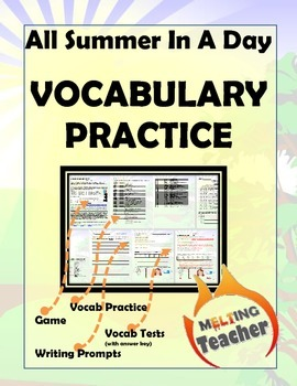 All Summer in a Day Vocab Comprehension Packet