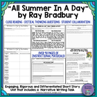 """All Summer in a Day"" by Ray Bradbury-Characterization and"