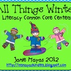 All Things Winter {Literacy Common Core Centers}