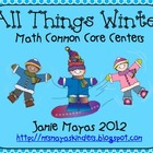 All Things Winter {Math Common Core Centers}