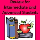 All Verb Tenses Review for Intermediate and Advanced Students