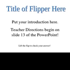 All about Anything Flip Up Window PPT
