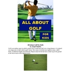 All about Golf for Kids