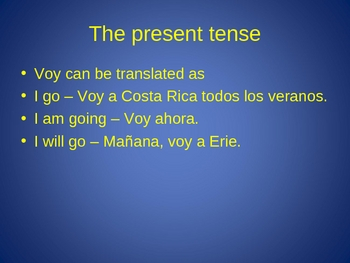 All the tenses of spanish with exaples exercises