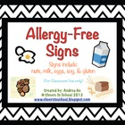 Allergy-Free Classroom Signs