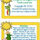 Alligator Inequalities Task Cards