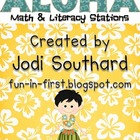 Aloha Math and Literacy Stations