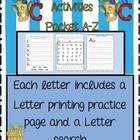 Alphabet Activities L-Z 45 pages of Alphabet Fun!