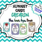 Alphabet Cards Chevron (Blue, Green, Aqua, Brown)