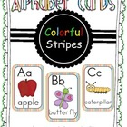 Alphabet Cards Colorful Stripes