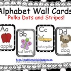 Alphabet Cards Polka Dots and Stripes (Black and White)