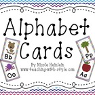 Alphabet Cards - Rainbow Chevron themed
