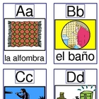 Alphabet Cards for House Vocabulary and Go Fish Game