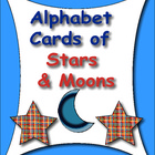 Alphabet Cards of Stars and Moons