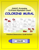 Alphabet Chart: Printable 12-Panel ABC Letters Coloring Wa