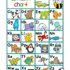 Alphabet Chart color/b&amp;w (FREE)