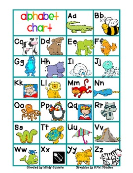 Alphabet Chart color/b&w (FREE)