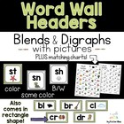 Alphabet Chart & Word Wall Headers (Green)