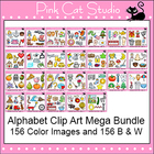 Alphabet Clip Art Mega Value Pack - Phonics Clipart Set -