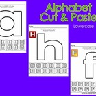 Alphabet Cut &amp; Paste-Lowercase