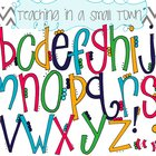Alphabet Flower Petals Font